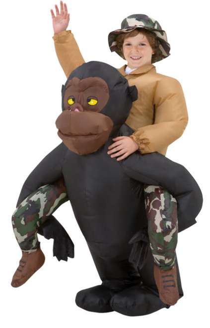 Boyu0027s Inflatable Riding Gorilla  sc 1 st  Halloween Express & Funny Halloween Costumes for Boys