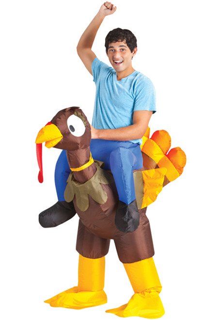Adult Inflatable Turkey Rider Costume  sc 1 st  Halloween Express & Inflatable Costumes for Adults Children and Teens