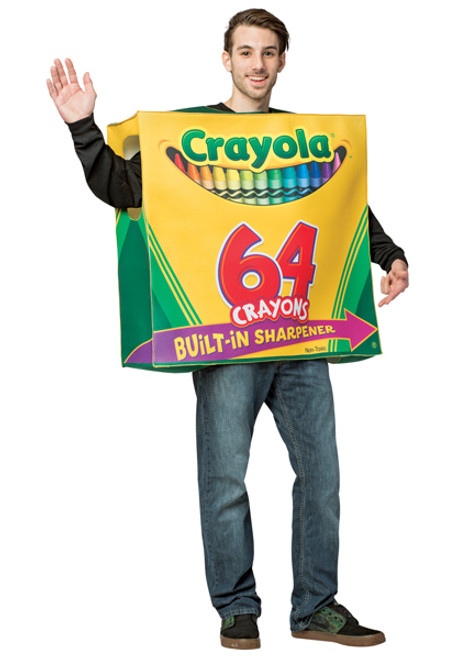 Adult 64 Count Crayola Box Costume  sc 1 st  Halloween Express & Crayola Crayon Costumes for Adults Teens Kids and Infants