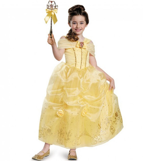 Girlu0027s Belle Prestige Costume  sc 1 st  Halloween Express & Beauty and the Beast Costumes for Adults Teens Kids and Infants