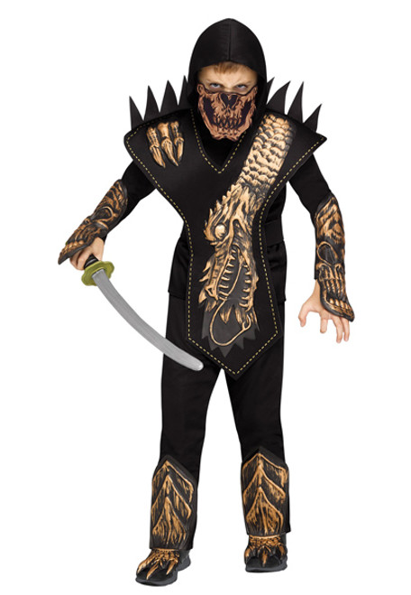 boys dragon skull ninja costume