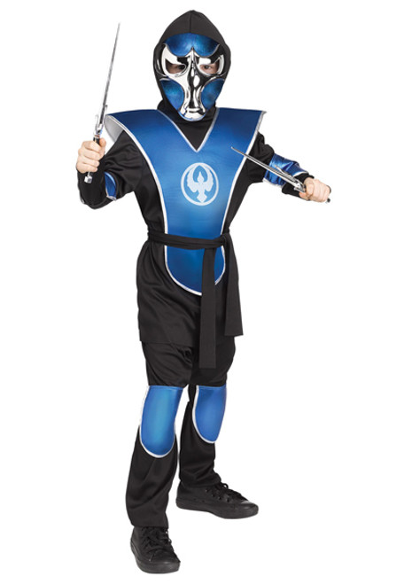 Boyu0027s Chrome Raven Ninja Costume  sc 1 st  Halloween Express & Ninja Halloween Costumes for Kids
