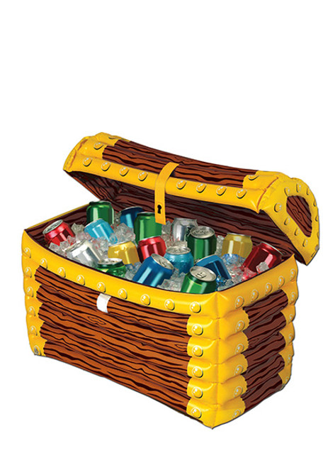 inflatable treasure chest cooler bg50988