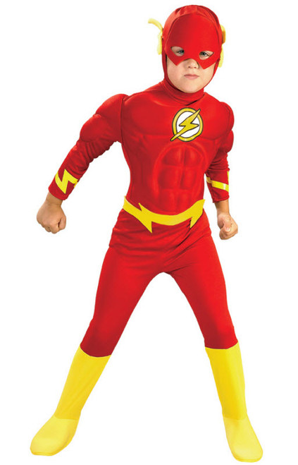 Boyu0027s Flash Muscle Costume  sc 1 st  Halloween Express & Superhero Costumes for Kids