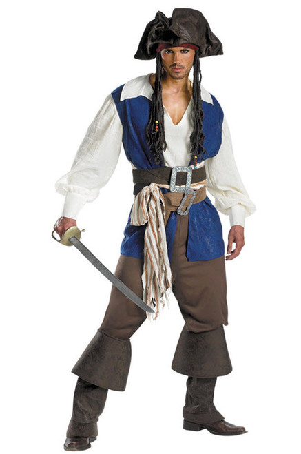 Menu0027s Jack Sparrow Costume DG5035  sc 1 st  Halloween Express & Pirate Halloween Costumes and Pirate Halloween Costumes. We have ...
