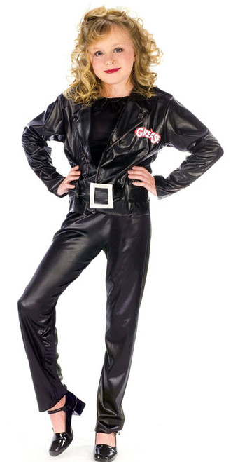 Girlu0027s Grease Cool Sandy Costume  sc 1 st  Halloween Express & Grease Movie Costumes
