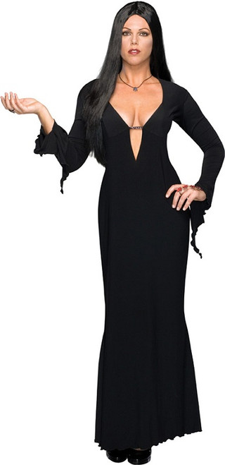 Womenu0027s Morticia Addams Costume  sc 1 st  Halloween Express & The Addams Family is back! Uncle Fester Morticia Gomez Wednesday ...