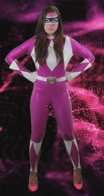 how to create a pink power ranger costume look