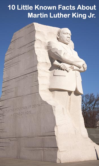 10 little known facts about martin luther king jr
