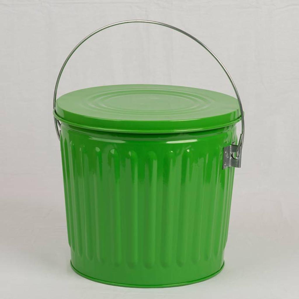 Galvanized Seed Storage Can W Lid