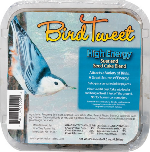 Bird Tweet High Energy Suet and Seed Cake Blend