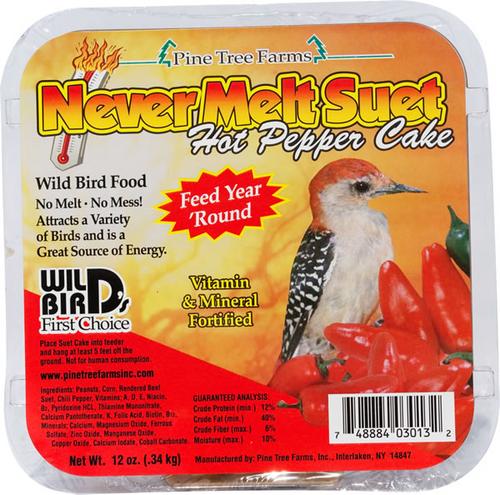 Never Melt Suet Hot Pepper Cake