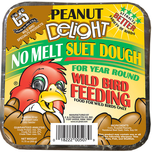 Peanut Delight No Melt Wild Bird Suet Dough | C & S Suet