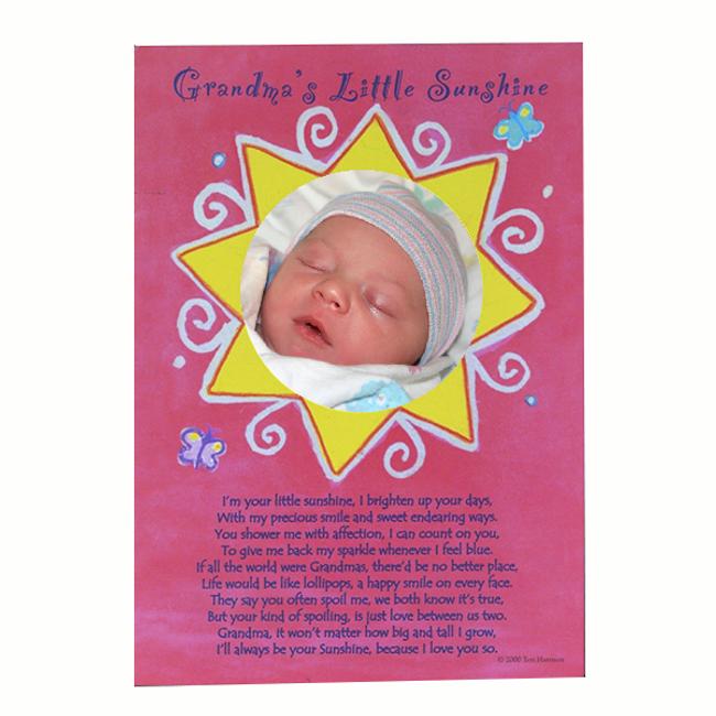Grandma's Little Sunshine Photo Card