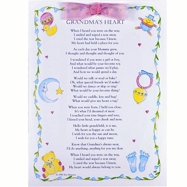 Grandma's Heart Greeting Card