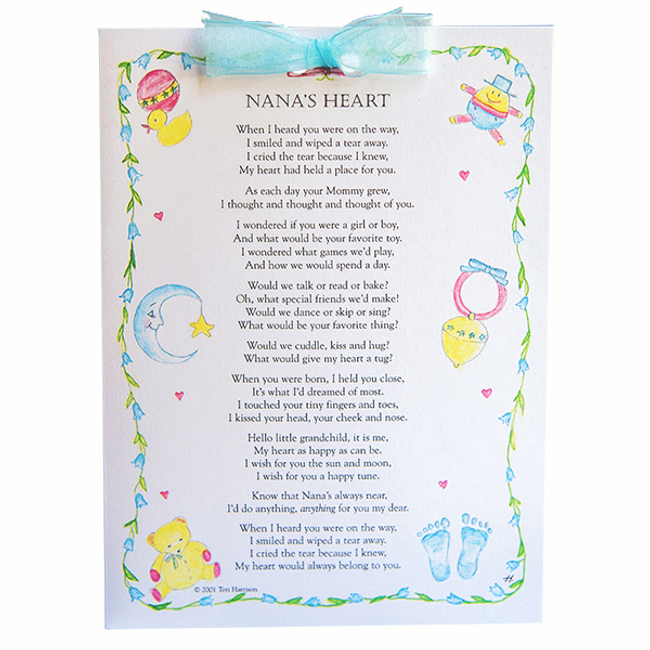 Card, Nana's Heart Greeting Card