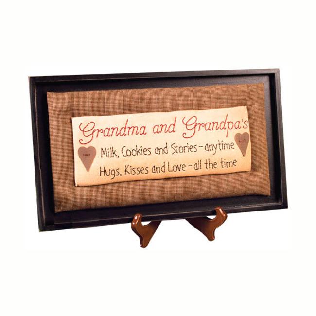 Framed Stitchery, Grandma and Grandpa's