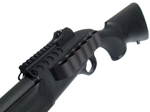 SureShell Aluminum Carrier and Rail for Beretta 1301 Tactical (6-Shell, 12-GA, 3 ¼ in)