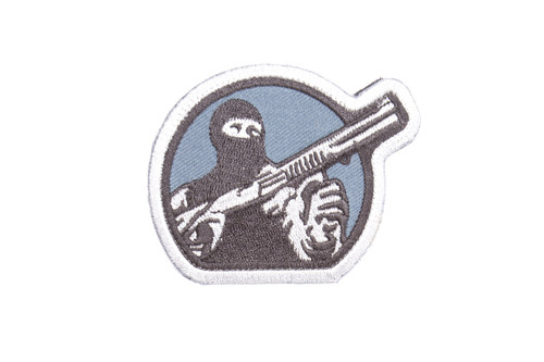 Mesa Tactical Embroidered Patch (Mesa Tactical Guy Logo, Navy Blue)