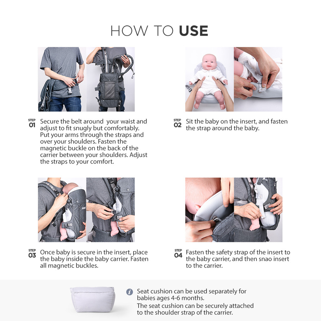 Clarmiel One Touch Baby Carrier - Infant Insert