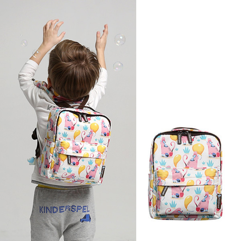 Kinderspel All-in-One Cotton Toddler Backpack with safety strap