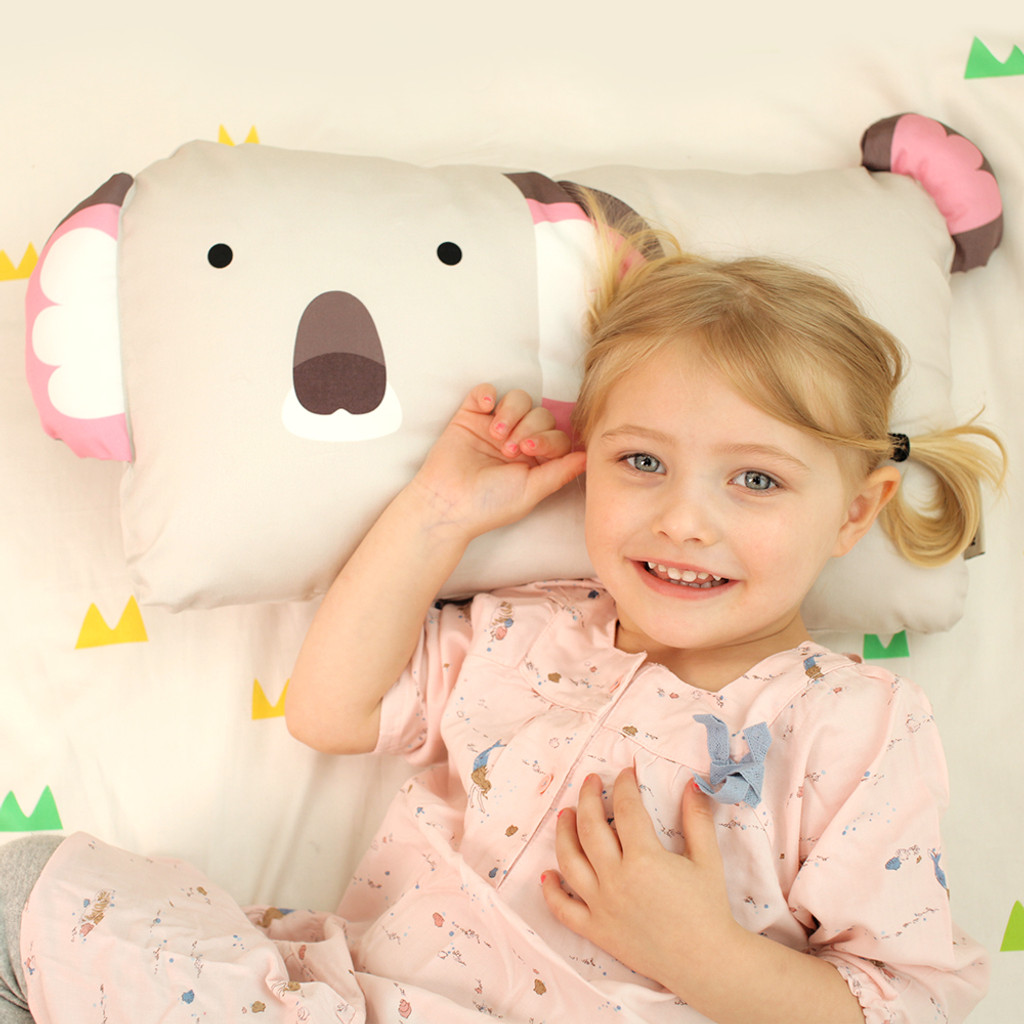 TODDLER KOALA PILLOWCASE - OLIVE
