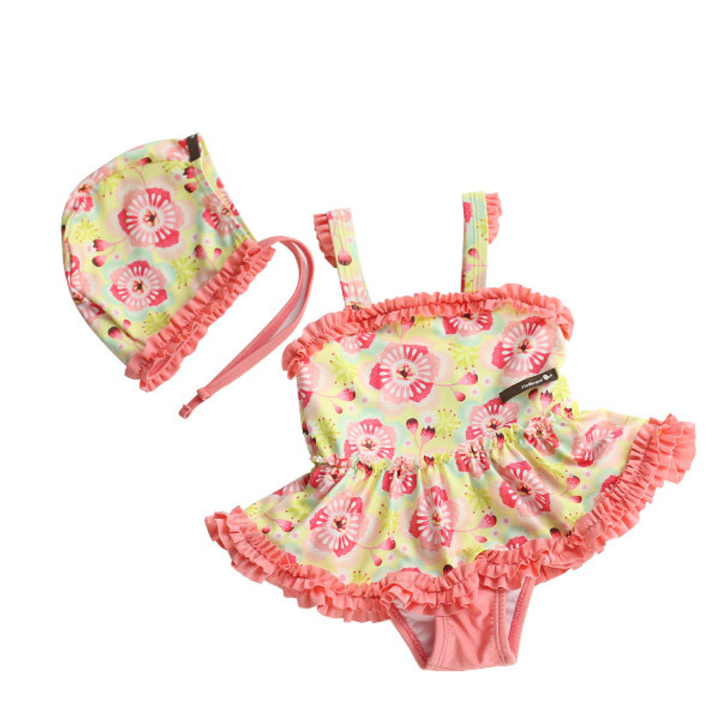 TWO PIECE SWIMSUIT - FLOWER CLUSTER