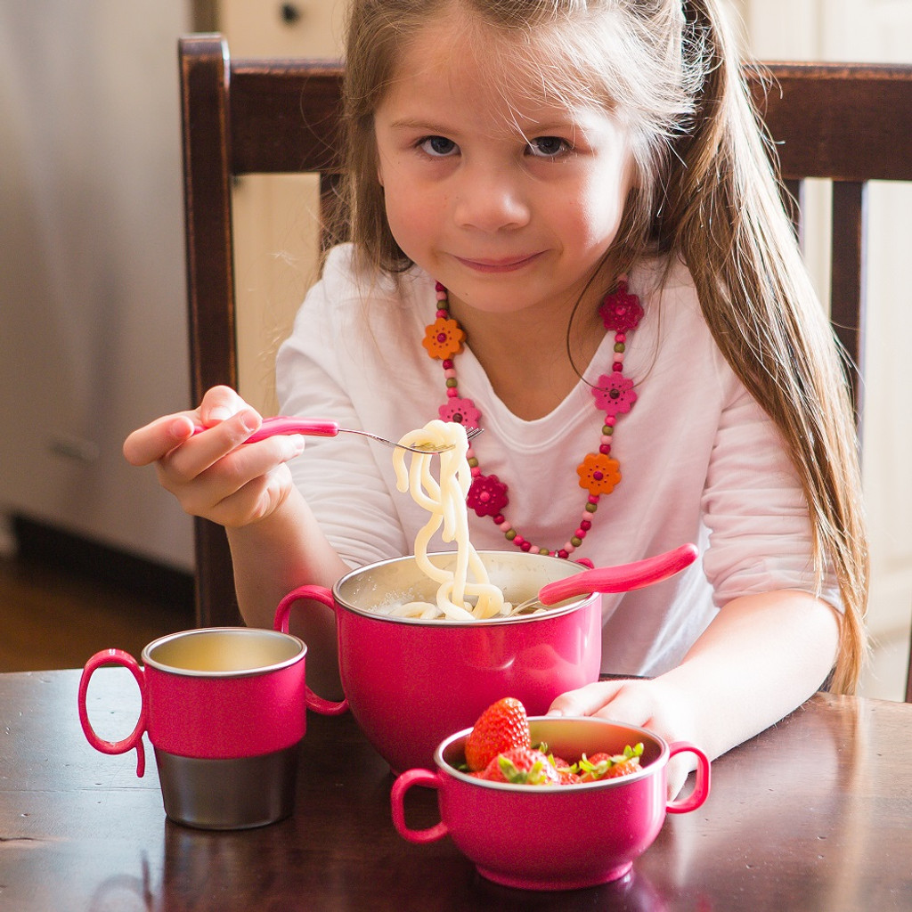 Din Din Smart Stainless Dinner Bowl (MULTIPLE COLORS)