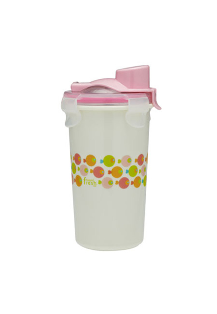 Keepin' SMART Double Insulated Stainless Cup - Pink / Fish / 12 oz