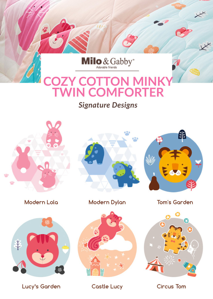 Cozy Cotton Minky Twin Comforter - Tom's Garden