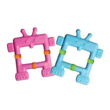 Teethin' Smart  EZ Grip Teether Robot - Pink