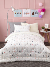 Microfiber Quilted Twin Comforter - Lucy's Secret Tree Nuts
