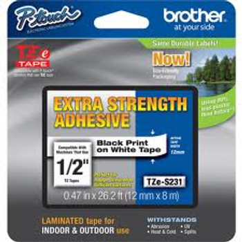BLACK/WHITE EXTRA STRONG ADHESIVE TAPE (12MM)