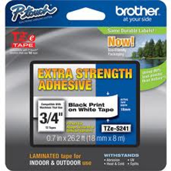BLACK/WHITE EXTRA STRONG ADHESIVE TAPE (18MM)