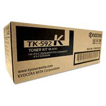 Kyocera TK592K Genuine Black Toner. For Kyocera FS-C5250DN