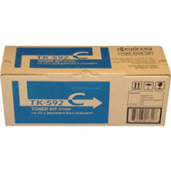 Kyocera TK-592C Genuine Cyan Toner. For Kyocera FS-C5250DN
