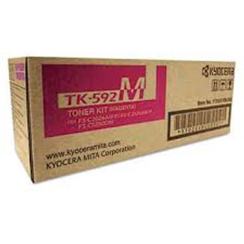 Kyocera TK-592M Genuine Magenta Toner. For Kyocera FS-C5200.