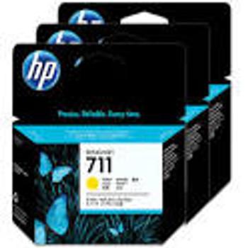 HP #711 YELLOW 3 PACK