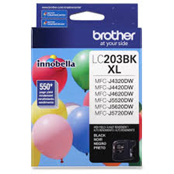 Brother LC203BKS Compatible Black Ink Cartridge, High-Yield
