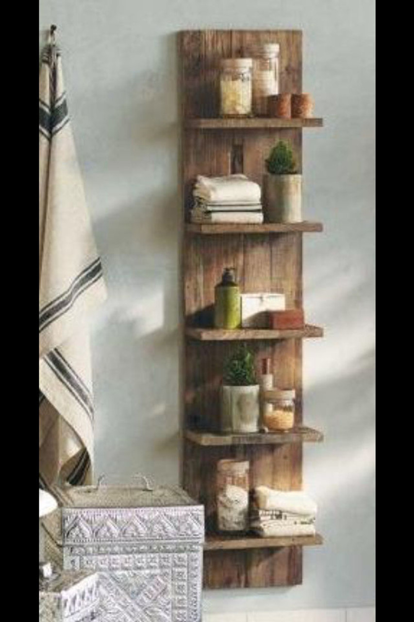 rustic bathroom kitchen shelves
