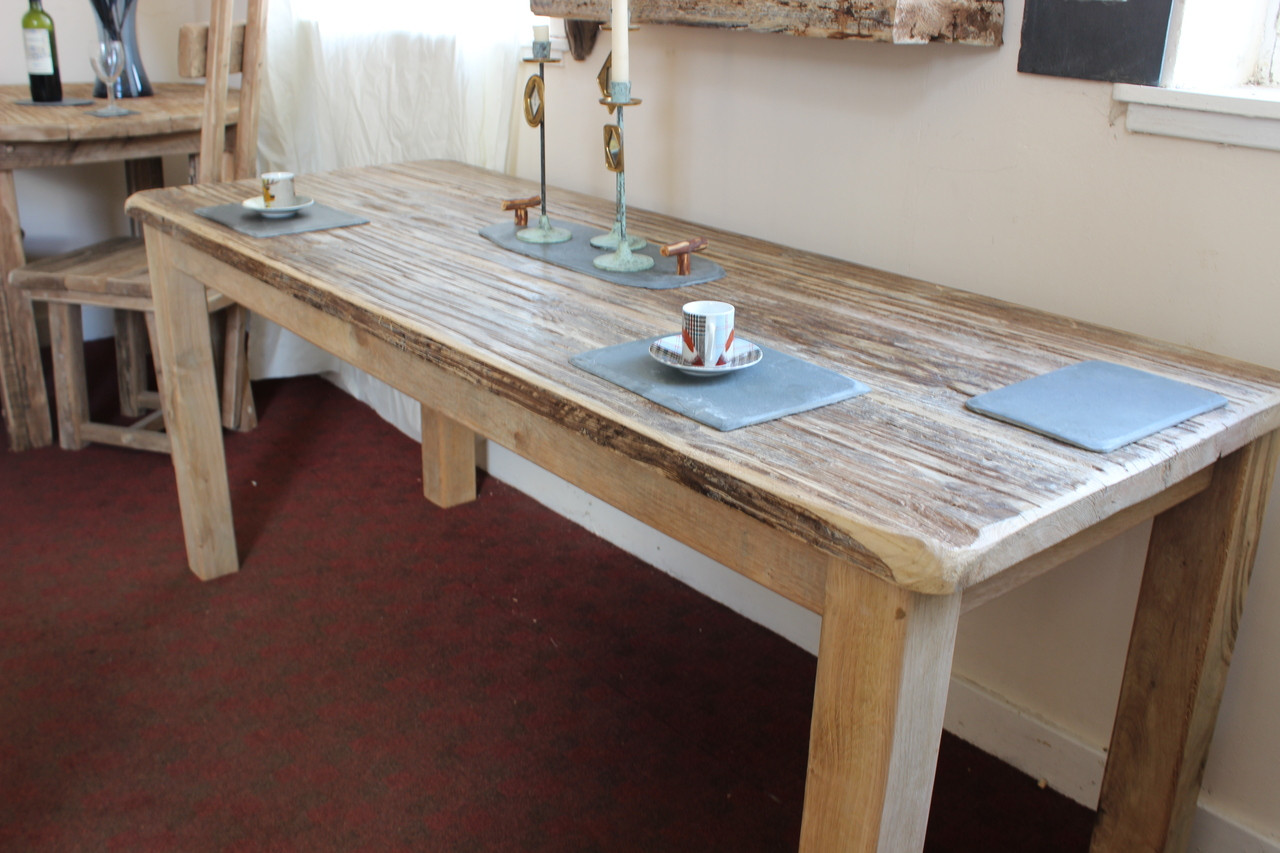 Oak and driftwood dining table