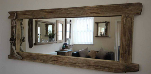 wood framed mirrors. Large Distressed Wooden Framed Mirror Wood Mirrors O