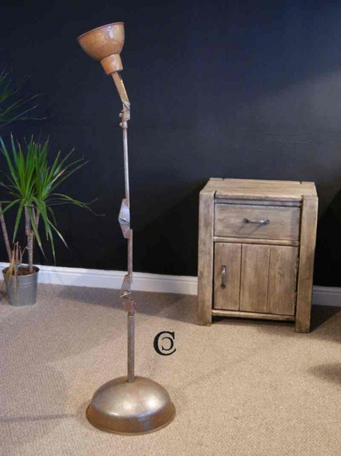 Industrial anglepoise machine lamp floor standing - DRIFTWOOD INTERIORS