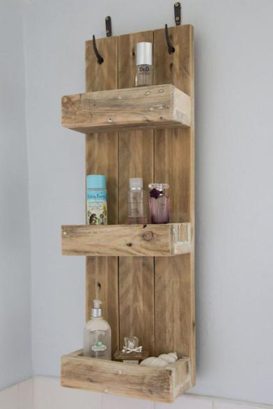 Box Shelving Unit Rustic Wood