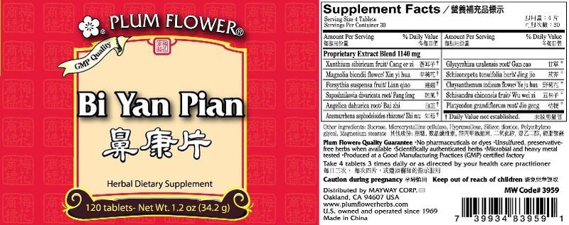 Bi Yan Pian Plum Flower Brand