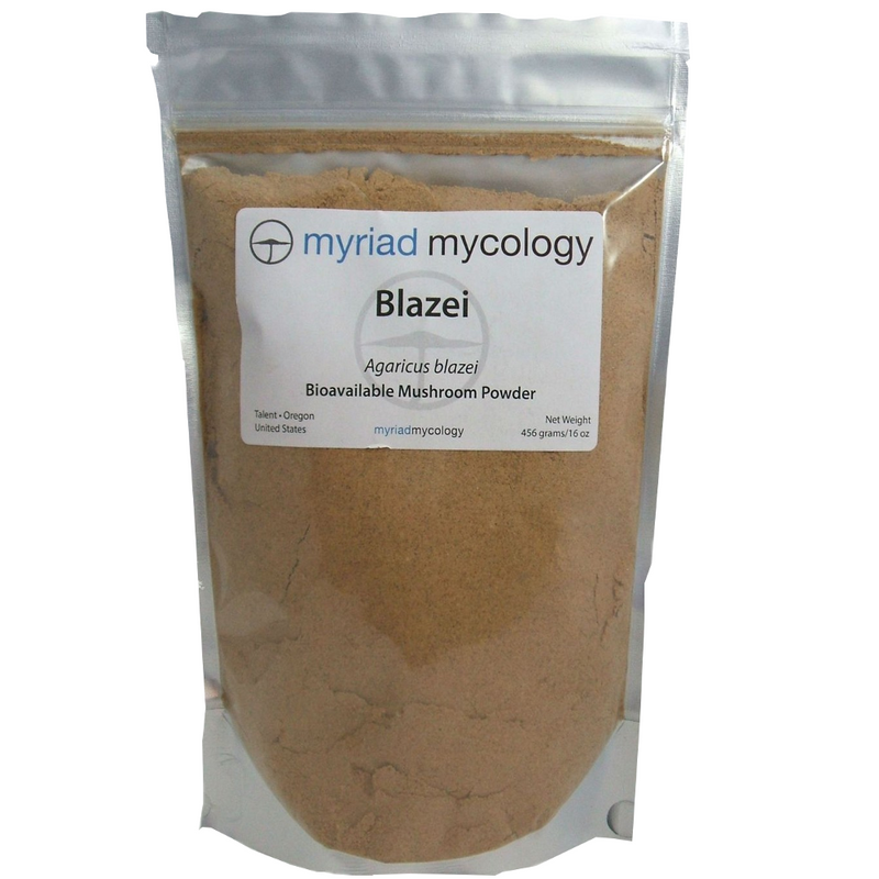Blazei Mushrooms Agaricus Blazei Myriad Mycology Mushroom Powder 1 lb