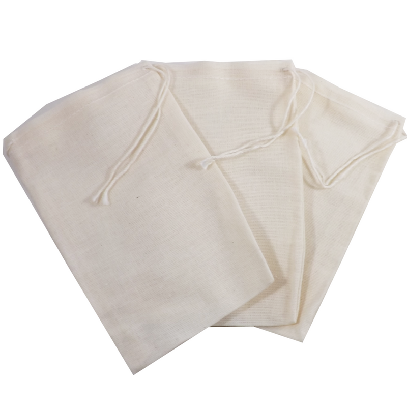 "Re-usable Muslin Teabags 4"" x 6"" 1 teabag (Culinary bags)  Muslin Culinary Bags - Use for reusable teabags, spice bags, sachets, herbal baths, Herbal foot soaks, gift bags, party favor bags and crafts."