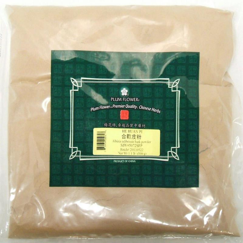Albizzia bark (He Huan Pi) - Powder Form 1 lb - Plum Flower Brand