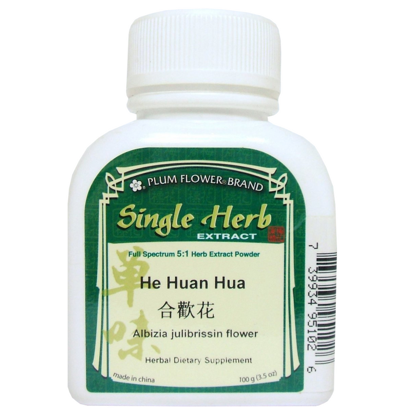 Albizzia/Albizia Flower (He Huan Hua) Plum Flower Powdered Concentrate Form 100 gram bottle