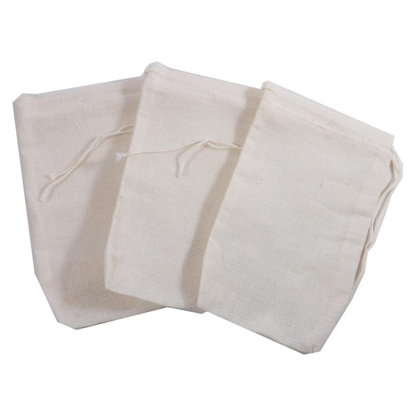 3 X 5 Muslin Culinary Bags Use For Reusable Teabags E